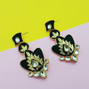 The99jewel Meenakari Pearl Kundan Danglers Earrings