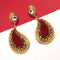 The99Jewel Zinc Alloy Maroon Stone Dangler Earrings