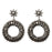 Jeweljunk Marcasite Stone Dangler Earrings