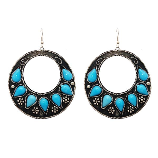 Urthn Blue Pota Stone Dangler Earrings