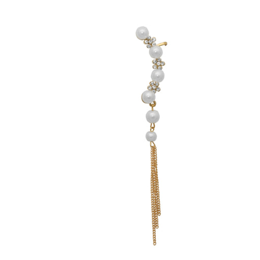 Kriaa Pearl Gold Plated Ear Cuff