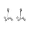 Morini Cubic Zirconia Diamond Star Stud Earrings