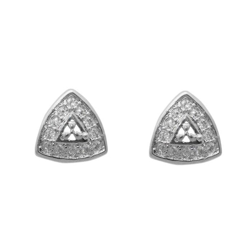 Eleonora American Diamond Triangle Stud Earrings