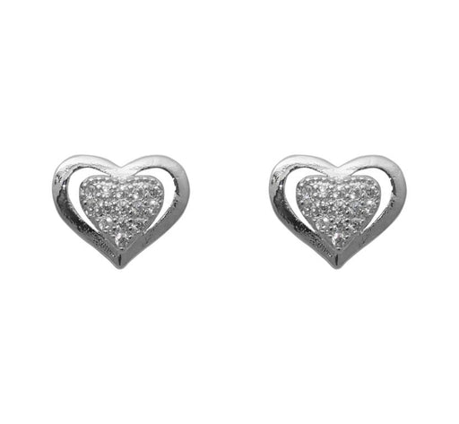 Eleonora American Diamond Heart Stud Earrings