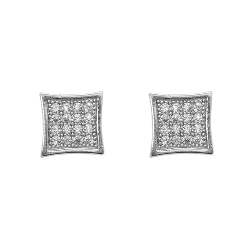 Eleonora American Diamond Square Stud Earrings