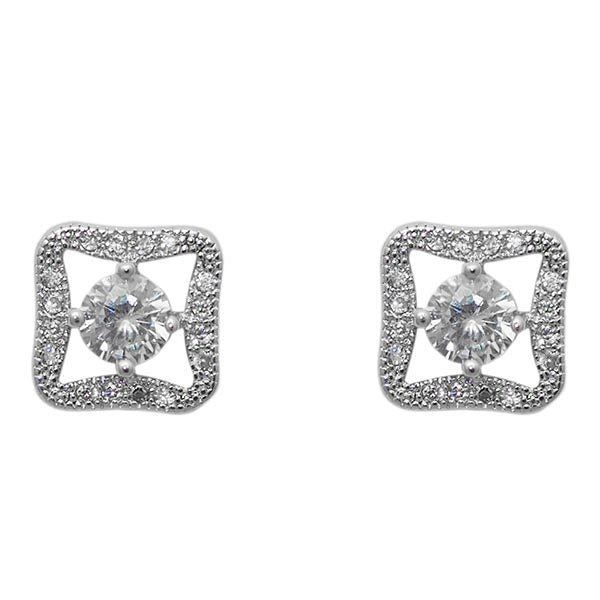 Morini Cubic Zirconia Diamond Stud Earrings