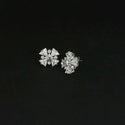 Urthn AD Stone Rhodium Plated Stud Earrings