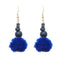 Jeweljunk Blue Thread Gold Plated Thread Earrings
