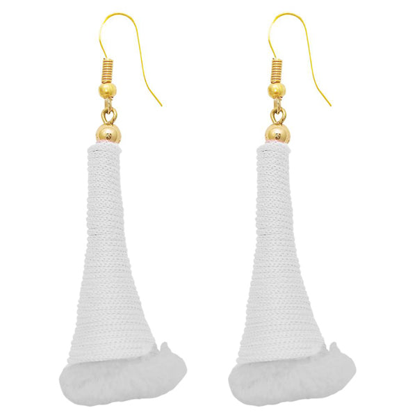 The99Jewel Gold Plated White Thread Earrings