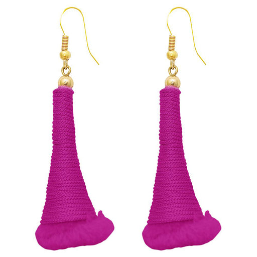 The99Jewel Pink Gold Plated Thread Earrings