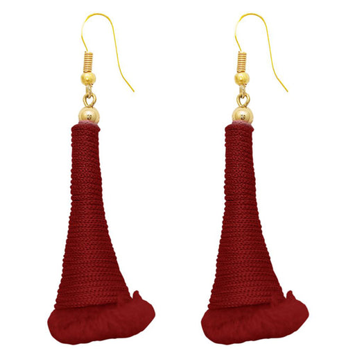 The99Jewel Zinc Alloy Maroon Thread Earrings
