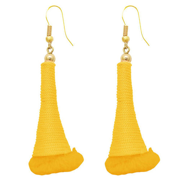 The99Jewel Gold Plated Yellow Thread Earrings