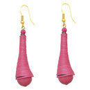 The99Jewel Zinc Alloy Pink Thread Earrings
