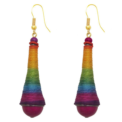 The99Jewel Gold Plated Multicolour Thread Earrings
