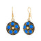 Jeweljunk Blue Beads Gold Plated Dangler Earrings