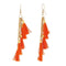 Jeweljunk Orange Thread Gold Plated Earrings
