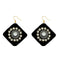 Jeweljunk  Austrian Stone Black Velvet Earrings