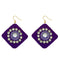 Jeweljunk  Austrian Stone Blue Velvet Earrings - N1308340G