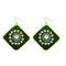 Jeweljunk  Austrian Stone Green Velvet Earrings