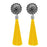 Jeweljunk Yellow Oxidised Plated Thread Earrings