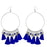 Jeweljunk Silver Plated Blue Thread Earrings