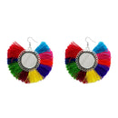 Jeweljunk Silver Plated Multicolor Thread Earrings