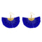 Jeweljunk Blue Thread Gold Plated Earrings