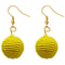 Jeweljunk Yellow Thread Dangler Earrings - N1308358A