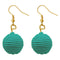 Jeweljunk Green Thread Dangler Earrings