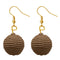 Jeweljunk Brown Thread Dangler Earrings