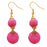 Jeweljunk Pink Thread Gold Plated Dangler Earrings