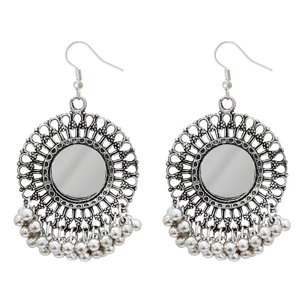 Jeweljunk Oxidised Plated Afghani Earrings