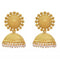 Kriaa Gold Plated Zinc Alloy Pearl Drop Jhumki Earring