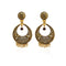 Jeweljunk Antique Gold Plated Dangler Earrings