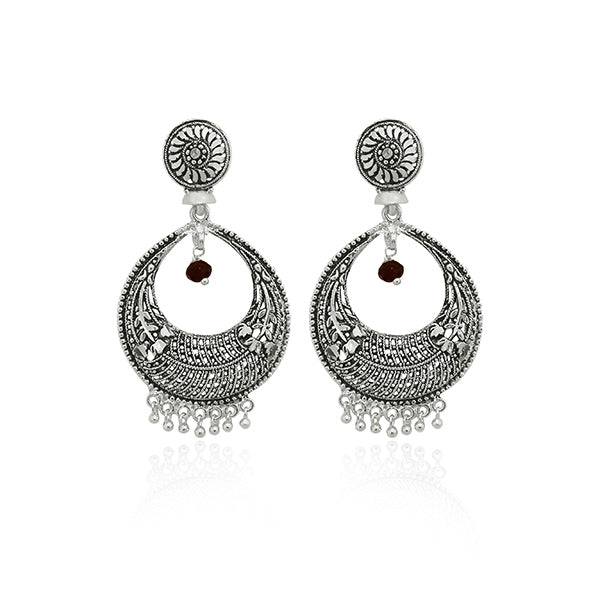 Jeweljunk Rhodium Plated Dangler Earrings
