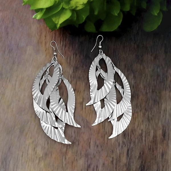Urthn Silver Plated Dangler Earrings - 1308647
