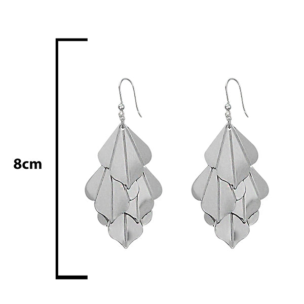 Urthn Silver Plated Dangler Earrings - 1308658
