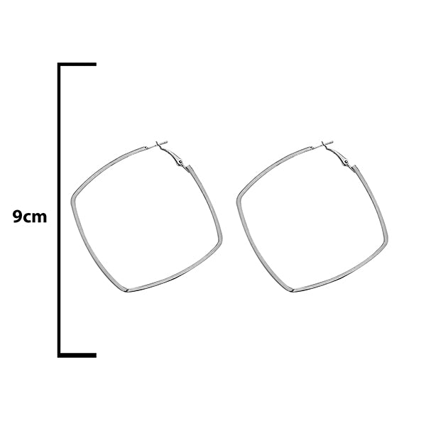 Urthn Silver Plated Hoop Earrings - 1308665