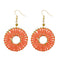 jeweljunk Gold Plated Orange Beads Dangler Earrings