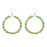 Jeweljunk Gold Plated Green Beads Dangler Earrings