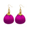 Jeweljunk Gold Plated Purple Thread Earrings