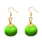 Jeweljunk Green Thread Gold Plated Thread Earrings