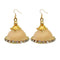 Jeweljunk Austrian Stone Beige Thread Earrings - 1309074K - FS
