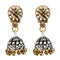 Kriaa 2Tone Plated Jhumki Earrings