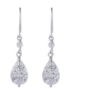 Kriaa Silver Plated Austrian Stone Dangler Earrings