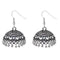 Jeweljunk Black Silver Beads Oxidised Jhumki Earrings
