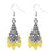 Jeweljunk Silver Plated Yellow Beads Jhumki Earrings