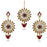 Kriaa Austrian Stone Dangler Earrings With Maang Tikka
