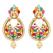 Kriaa Austrian Stone Kundan Navrang Dangler Earrings