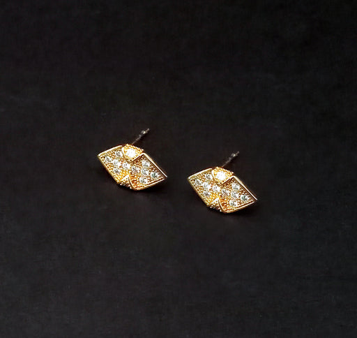 Urthn Gold Plated Austrian Stone Stud Earrings